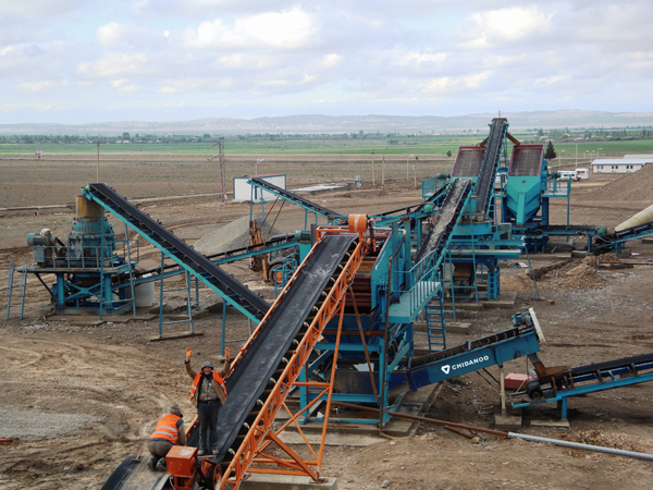 VIBRATING SCREEN & SAND WASHER